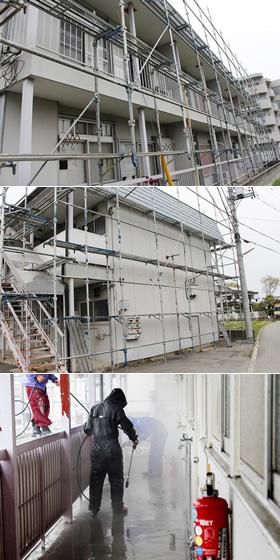 甲府市 Hアパート 2015年4月工事